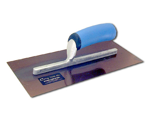 Model 101 Stainless Steel Finish Trowel pictured here with soft-grip handle.
